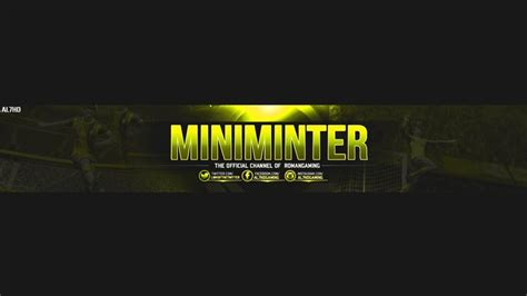 gfx gaming youtube banner template  psd file