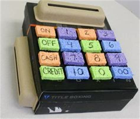 Register My Gift Card Mastercard - child care solutions made this cash register out of a cardboard box sponges and