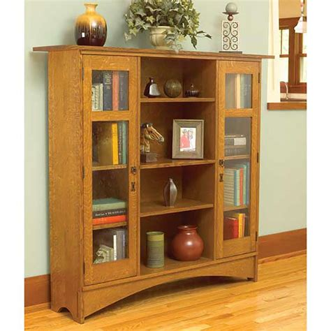 mission bookcase woodworking plan  wood magazine