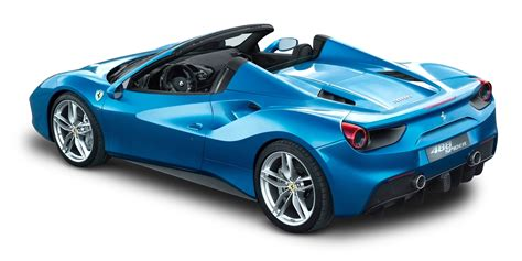 cars blue 488 spider blue car back png image pngpix