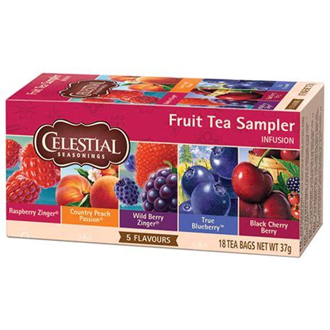 Celestial tea Fruit tea Sampler tepåsar 18st   Te   DeliCo   Kaffe på nätet