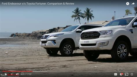 ford vs toyota comparison ford endeavour vs toyota fortuner team bhp