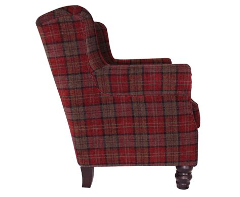 Fireside Armchair by William Claret Tartan Fireside Armchair Uk Delivery
