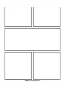 printable center action comic page