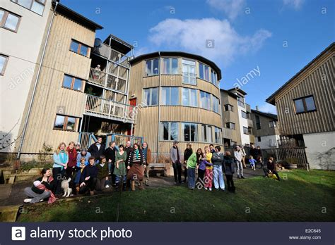 co housing community the springhill co housing community in stroud gloucestershire uk stock photo royalty