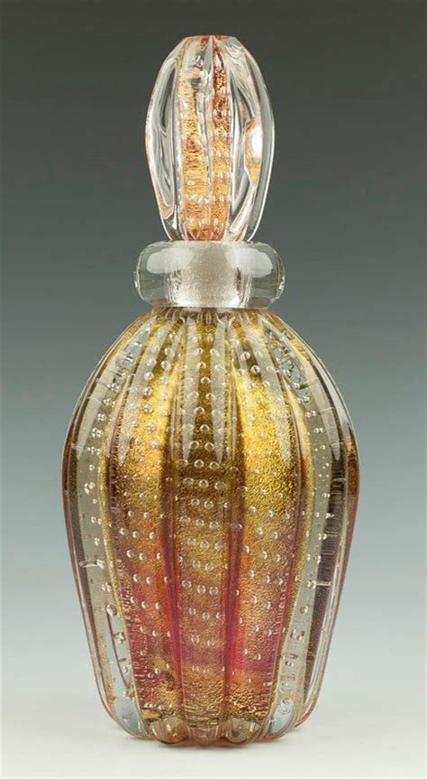 Parfum Gatsby Gold reserved 9 quot barovier toso murano perfume bottle
