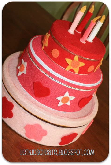 How To Make A Cake Out Of Paper - let create diy felt birthday cake
