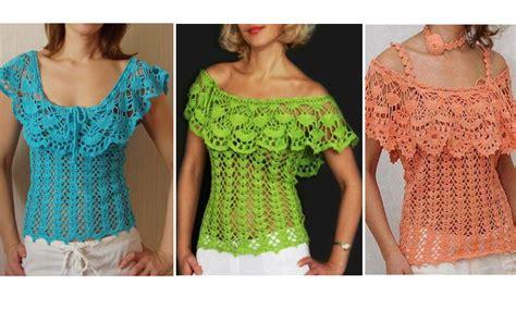 paso a paso blusas de crochet blusas con diagramas para tejer en crochet crochet paso