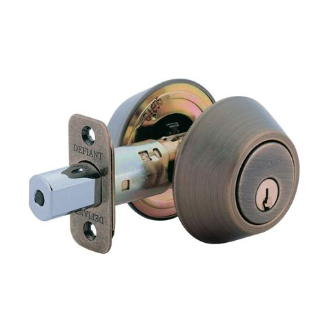 nostalgic warehouse single cylinder antique brass deadbolt