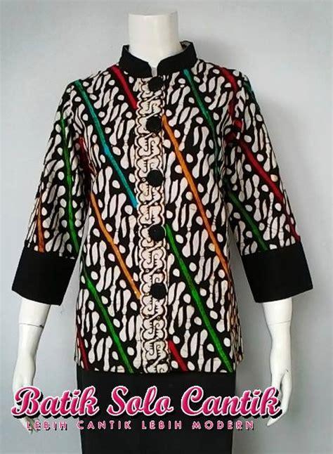 Baju Batik Batik Ayusari Blus Parang 2 blus batik parang model rainbow hitam