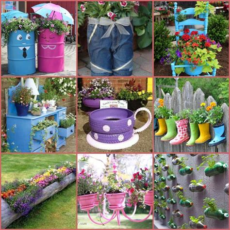 recycled containers for gardening 40 creative diy garden containers and planters from