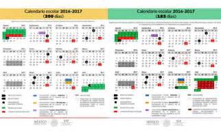 Calendario Mexicano 2016 Calendario Escolar 2016 2017 Criando Creando