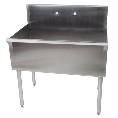 single compartment stainless steel sink regency 36 quot 16 stainless steel one compartment