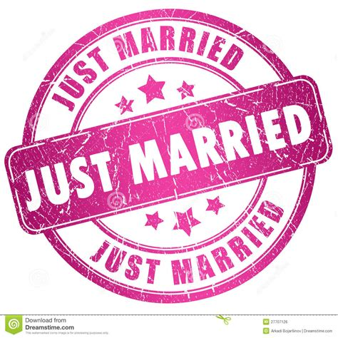 Just Married Stamp Royalty Free Stock Image   Image: 27707126
