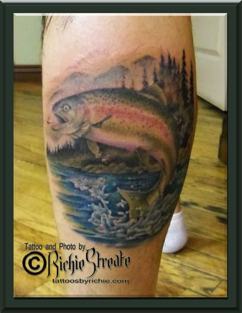 rainbow fish tattoo steelhead trout tattoos trout designs trout