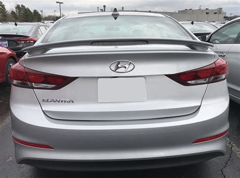Or Spoiler 2018 Hyundai Elantra Custom Style Spoiler With Light 2017 2018