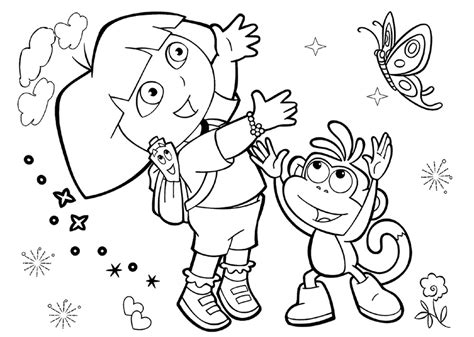 25 Wonderful Dora The Explorer Coloring Pages Free The Explorer Coloring Pages