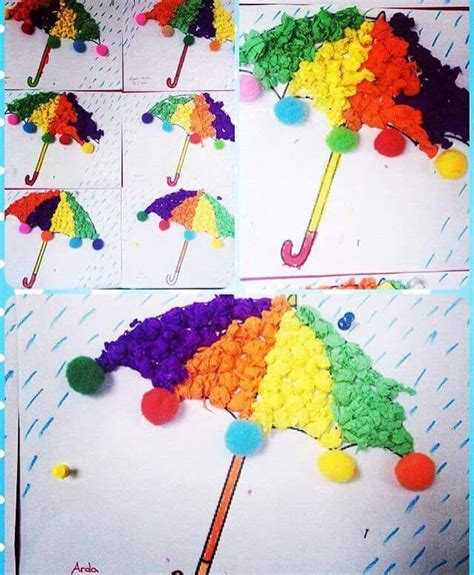 crepe paper craft ideas for crepe paper umbrella craft 171 preschool and homeschool