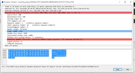 the ip header checksum c error in tcp checksum calculation stack overflow