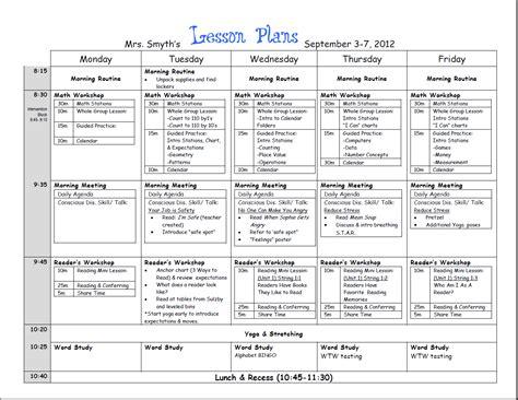 printable lesson plan for 1st grade new adventures in first grade first week lesson plans done