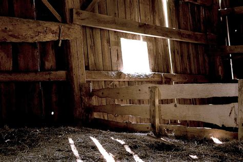 image gallery inside hay barn
