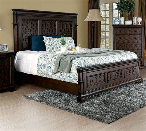 dream king size modern design bedroom set walnut 5 pc bedroom est king bed walnut modern foa cm7839 hot