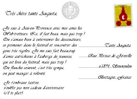 Exemple De Lettre Postale Culture Fran 231 Aise Agosto 2014