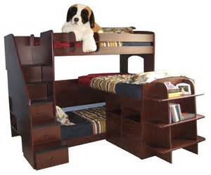 Bunk Bed Headboard Dayton Decker Stairway Bed Contemporary Bunk Beds By Totally
