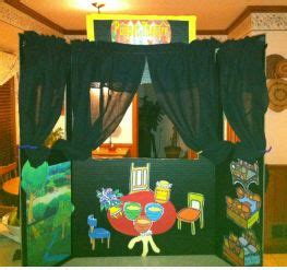 homemade play therapy puppet theater
