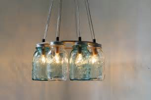 Unusual Wall Sconces Modern Country Mason Jar Chandelier Upcycled Hanging By