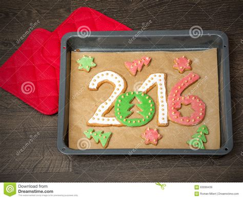 new year cookies 2016 2016 new year cookies stock photo image 63099439