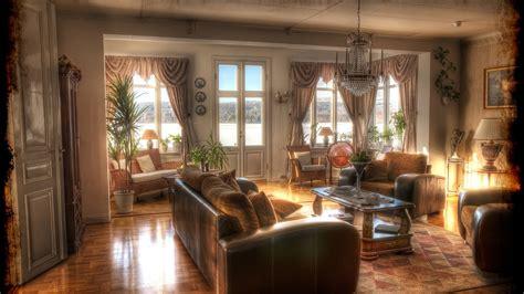 wallpapers for home interiors インテリアデザイン レトロ ソファー シャンデリア 壁紙 1920x1080 フルhd 壁紙ダウンロード