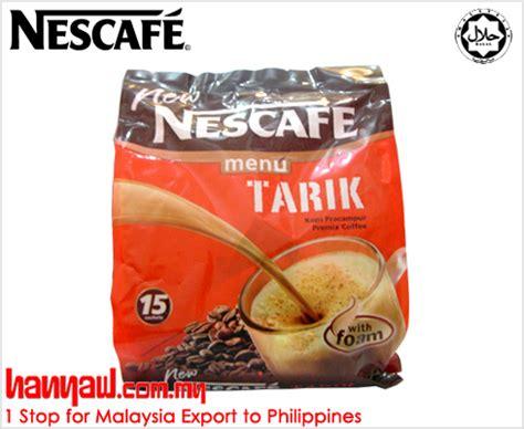 Nestle Teh Tarik nescafe menu tarik instant coffee hanyaw malaysia