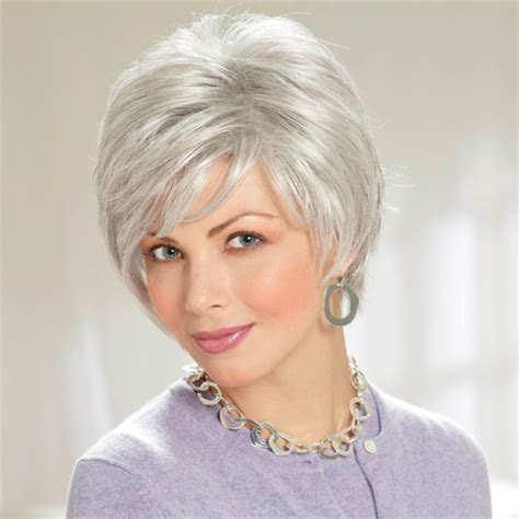 wigs for women over 70 with fine thin hair wigs for older women grey thinning hair short hairstyle 2013