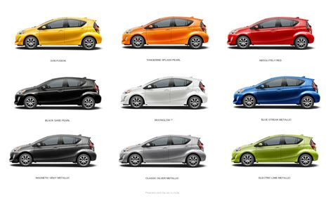 Toyota Colors What Colors Does The 2016 Prius C Come In Warrenton