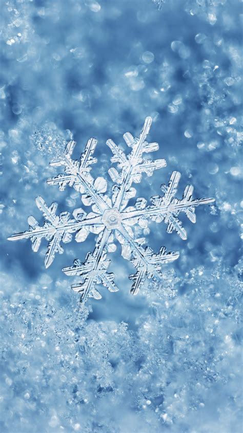 christmassnow pictures for iphones blue snowflake wallpaper free iphone wallpapers