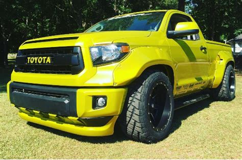 widebody toyota truck custom toyota tundra gets wide and bright for rod