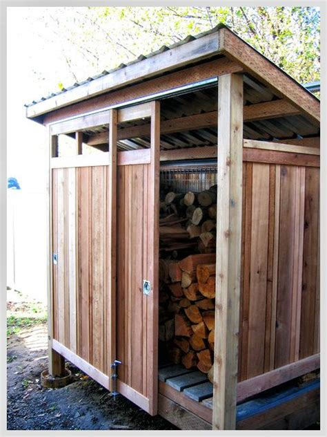 wood storage sheds ideas  pinterest wood shed
