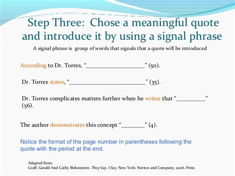 Integrating Quotes Practice Worksheet