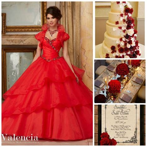 quinceanera themes red quince theme decorations pinterest quinceanera ideas