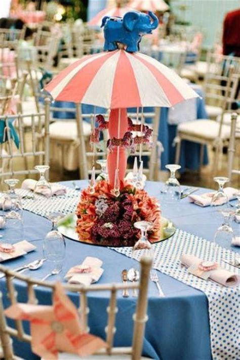 picture of funny centerpiece with handmade carousel