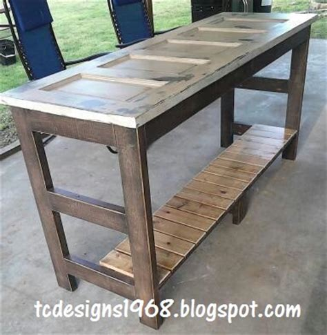 Narrow Kitchen Design With Island hometalk kitchen island made from an old door