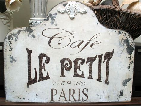 cafe de paris rustic french cottage style old wood wall shabby signs cafe french paris chippy vintage chic