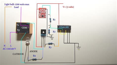 touch sensitive light switch circuit diagram