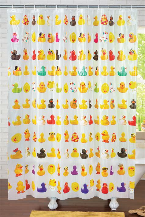 rubber ducky shower curtain collections etc rubber ducky shower curtain ebay