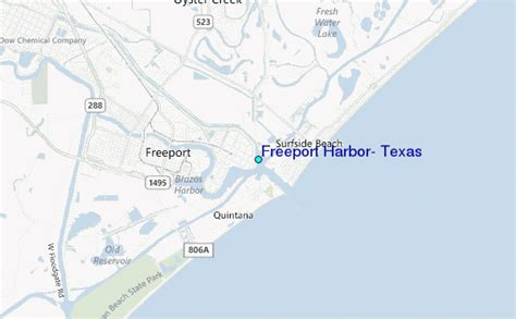 map freeport texas freeport harbor texas tide station location guide
