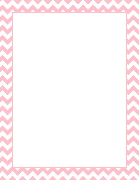 free chevron border template for word printable pink chevron border free gif jpg pdf and png