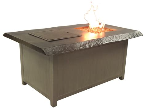 Firepit Coffee Table Castelle Altra Firepit Aluminum 52 X 36 Rectangular And Coffee Table And Lid Tri32wl