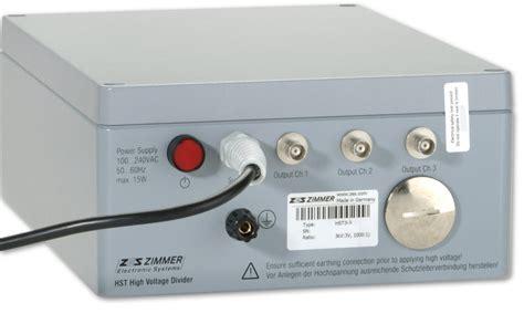 capacitive divider high voltage hst precision wideband high voltage divider zes zimmer