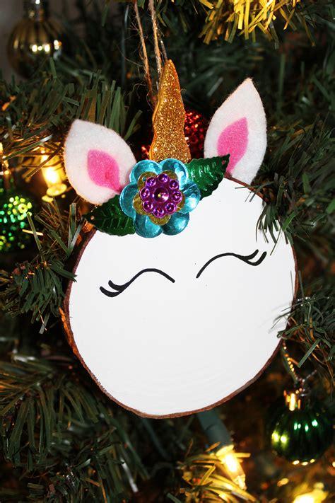 diy magical unicorn christmas tree ornament extreme